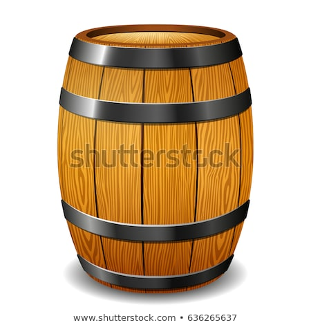 Brown Old Oak Wooden Barrel For Beverage Vector Stock photo © pikepicture