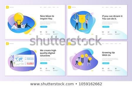 Móvel conteúdo aterrissagem página seo site Foto stock © RAStudio