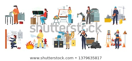 Modern Women, Fire Fighter and Designer Workman Stock photo © robuart