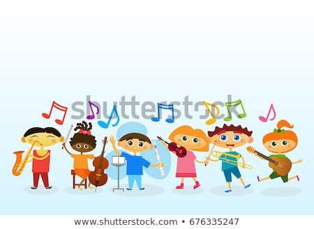 Árabe música conjunto menino música clássica Foto stock © toyotoyo