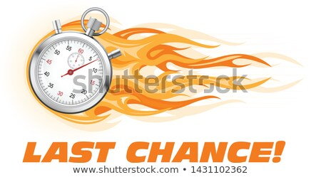last chance hurry up   burning stopwatch icon hot offer concep stock photo © winner