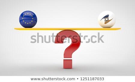 Kína USA kérdés kérdések gazdasági kereskedelem Stock fotó © Lightsource