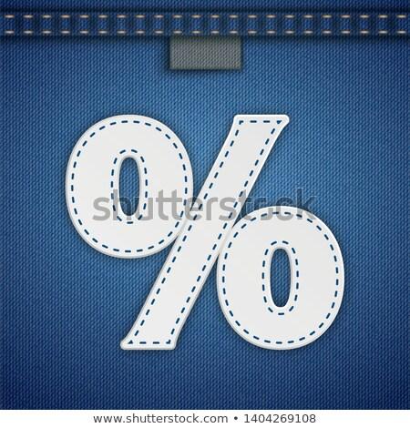 Jeans Ribbon White Percent Seam Stock photo © limbi007