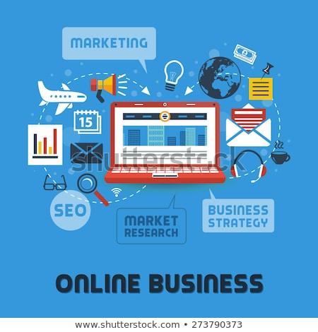 Analytics gestion affaires ligne vecteur Photo stock © robuart
