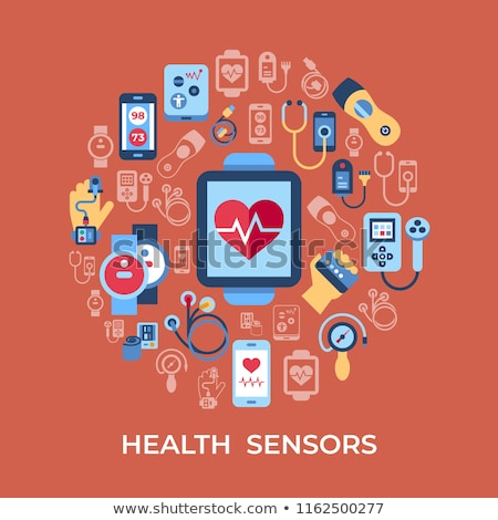 digital vector health sensor icons set stock photo © frimufilms