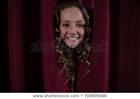 少女 ステージ カーテン 背面図 赤 子供 ストックフォト © AndreyPopov