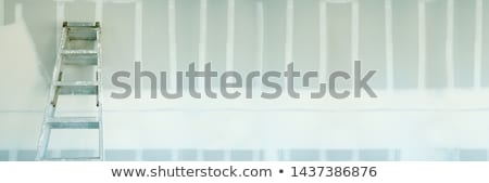 New Sheetrock Drywall and Ladder Abstract Banner Stock photo © feverpitch
