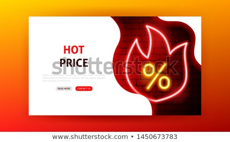 hot price sale neon landing page stock photo © anna_leni