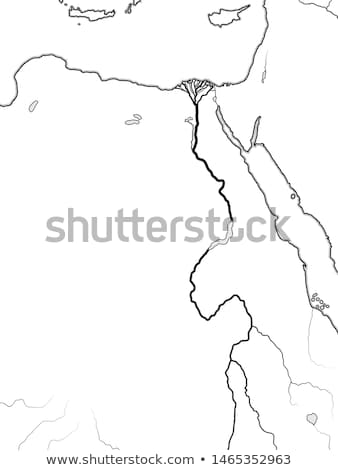 World Map of The NILE RIVER Valley & Delta: Africa, Egypt, Nubia, Ethiopia, Sudan. Geographic chart. Stock photo © Glasaigh