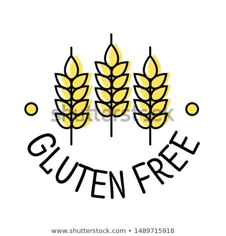 Glutenvrij product label icon oren tarwe Stockfoto © MarySan