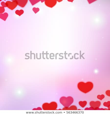 Valentines Day background with scattered blurred tender hearts Stock photo © SwillSkill