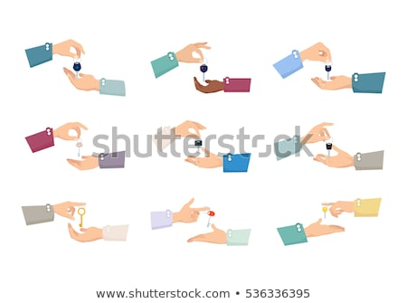 Set of Pictures. Hands Passing Keys. Purchase Stock photo © robuart