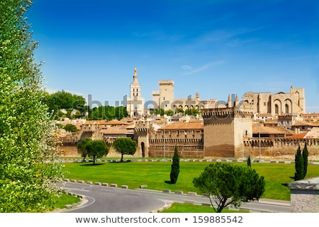 Medieval city walls of the Avignon in Provence, France Stock photo © boggy
