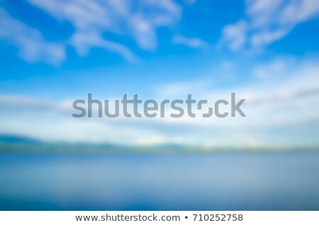 Zbiornik górskich Błękitne niebo zamazany działalności człowiek Zdjęcia stock © Freedomz