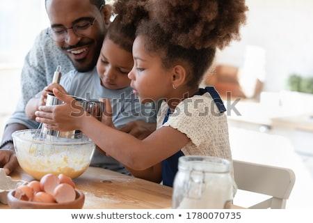 Zdjęcia stock: Dwa · dzieci · chłopca · dziewczyna · cookie