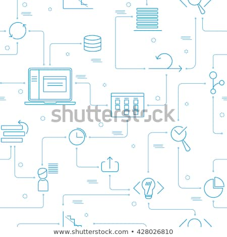 scrum agile seamless pattern vector stock photo © pikepicture