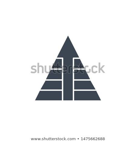 Pyramid with Arrow related vector glyph icon. Stock photo © smoki