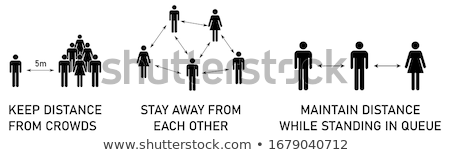 Maintain Social Distancing Sign Isolated Vector Illustration Stock photo © jeff_hobrath