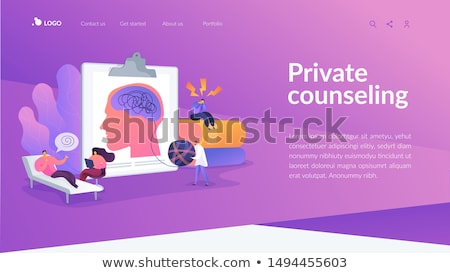 Private healthcare concept landing page. Stock photo © RAStudio