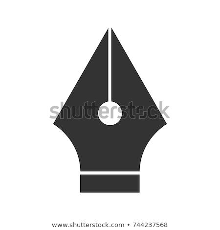Graphic design computer penna stilografica strumento in bianco e nero ufficio Foto d'archivio © yupiramos