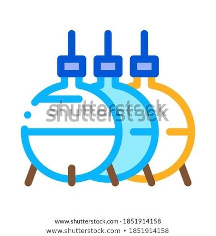 Três alto ícone vetor ilustração Foto stock © pikepicture