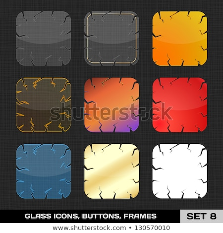 colorful shiny empty buttons set of eight Stock photo © SArts