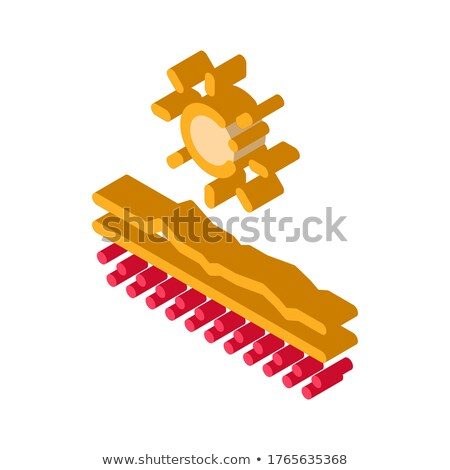 Drying Out Skin in Sun isometric icon vector illustration Stock photo © pikepicture