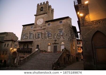 ратуша подробность часы башни Тоскана Италия Сток-фото © aladin66
