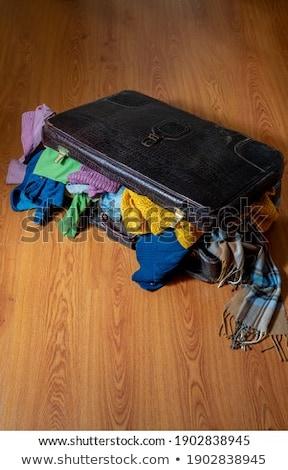 старые гардероб Vintage стиль путешествия Сток-фото © lunamarina