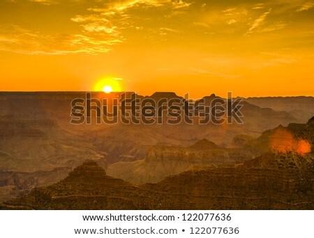 Zonsondergang grand Canyon woestijn punt zuiden Stockfoto © meinzahn