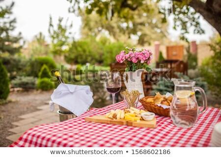 Noix pique-nique nappe photo coup alimentaire Photo stock © jirkaejc