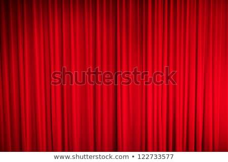 занавес красный закрыто свет Места театра Сток-фото © robuart