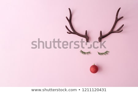 Kırmızı pembe Noel metin uzay soyut Stok fotoğraf © impresja26