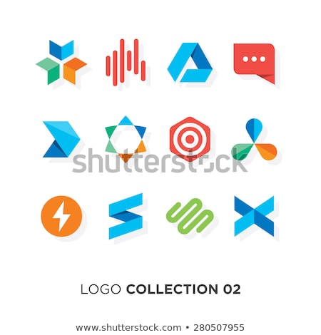 shopping flat color icons set 02 stock photo © ecelop