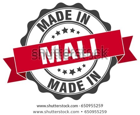 Made in Mali on Red Rubber Stamp. Stock photo © tashatuvango