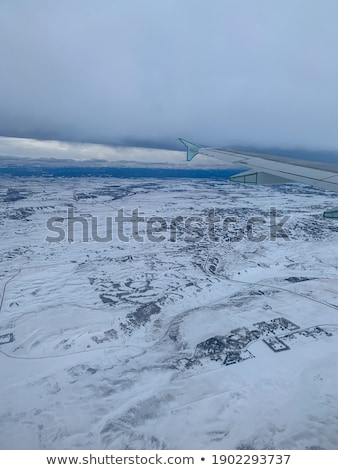 Aerial view of sea, Alberta, Canada Stock photo © bmonteny