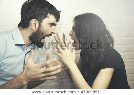 jonge · echtpaar · vrouw · man · woedend · strijd - stockfoto © feelphotoart