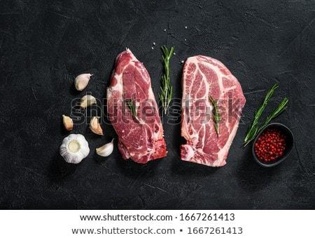 vesepecsenye · disznóhús · vaj · serpenyő · konyha · vacsora - stock fotó © dariazu