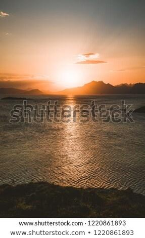 Puesta de sol pueblo mar costa hermosa Chipre Foto stock © mahout