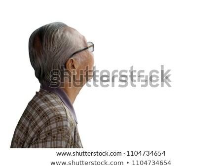 triste · deprimido · asiático · homem · tiro · retrato - foto stock © witthaya