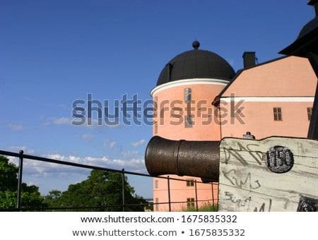 Stock photo: Old  canon aiming on the sky
