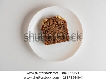 круассан · служивший · завтрак · продовольствие · хлеб - Сток-фото © flariv