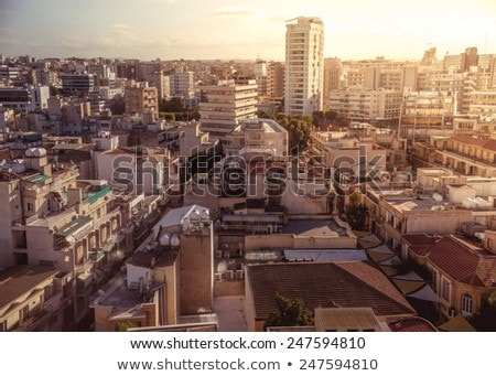 View of southern part of Nicosia, largest city and capital of Cy Stock photo © Kirill_M