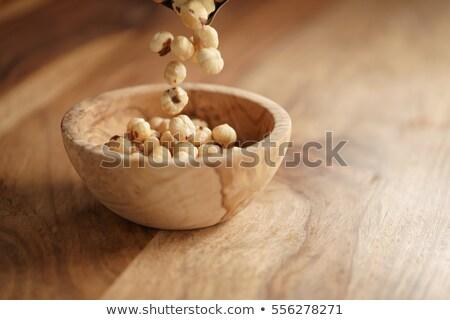 hazelnuts on wooden background Stock photo © mady70