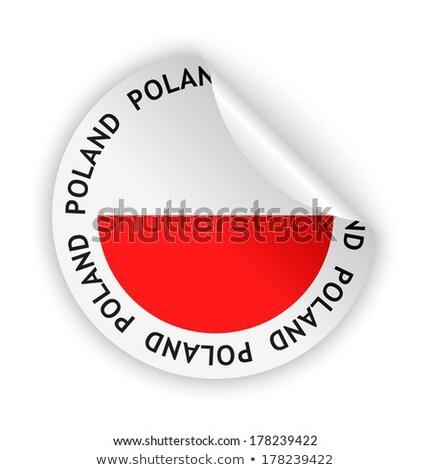 Bent icon with flag of poland Stock photo © MikhailMishchenko