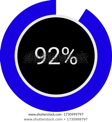 An infographic showing a pie graph Stock photo © bluering
