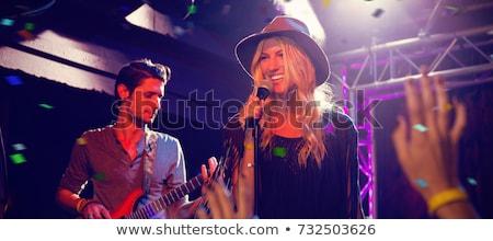 Gitarist gece kulübü sahne kadın parti Stok fotoğraf © wavebreak_media