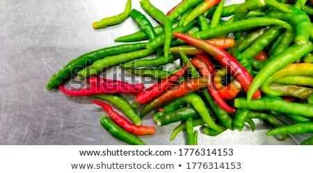 Red chilies on a steel surface Stock photo © IS2