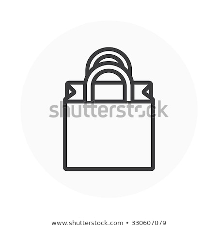 Shoping Bag Vector Icon Flat Design Stock photo © rizwanali3d
