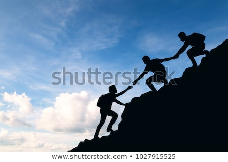 Team Helping Each Other To Achieve Success Stock photo © ivelin